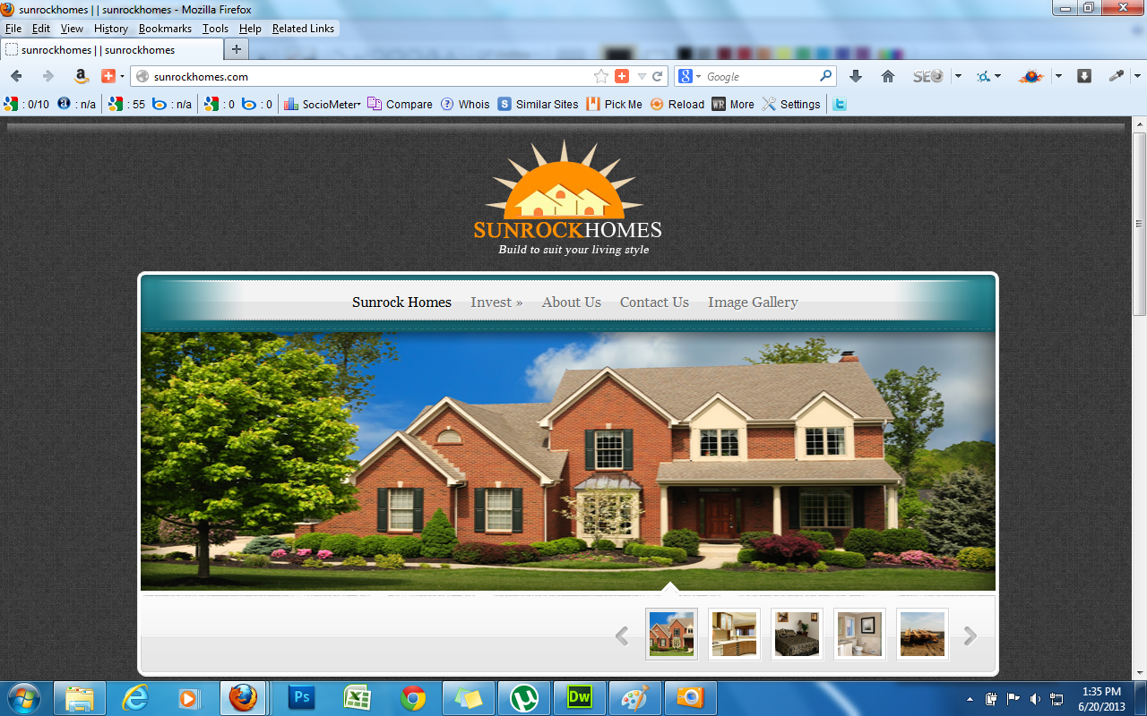 sunrockhomes-website-project